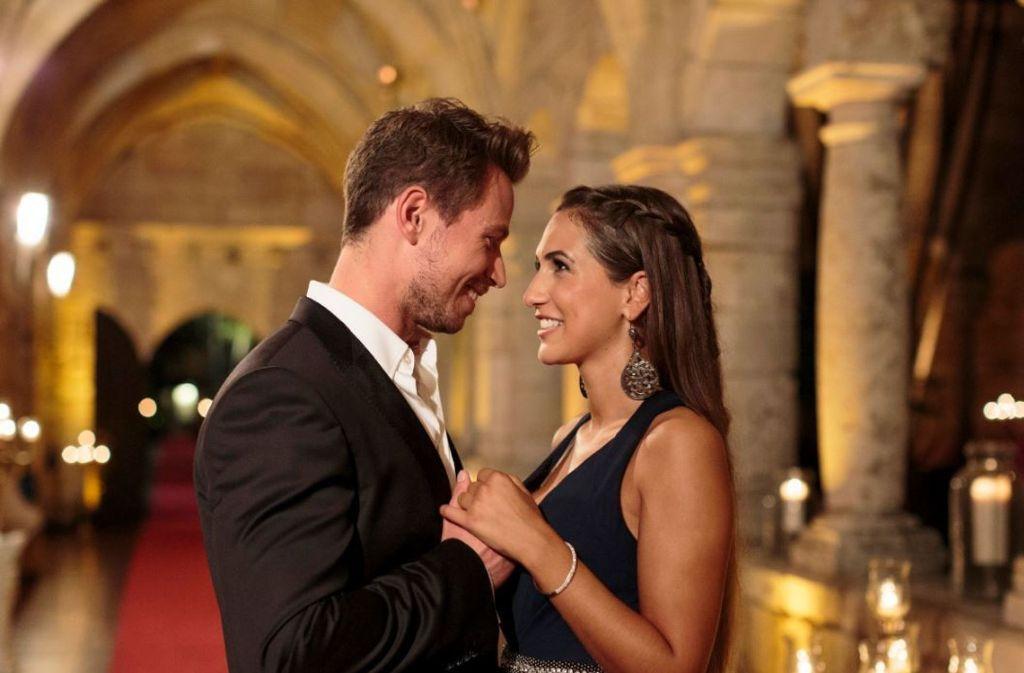 RTL-Bachelor Sebastian Pannek und Kandidatin Clea-Lacy sind ein Paar. Foto: RTL