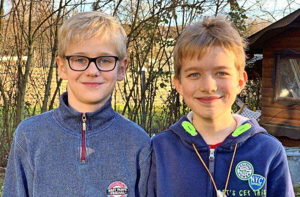 Die Elfjährigen Umweltschützer Erik (links) und Linus Foto: /Felix Ogriseck