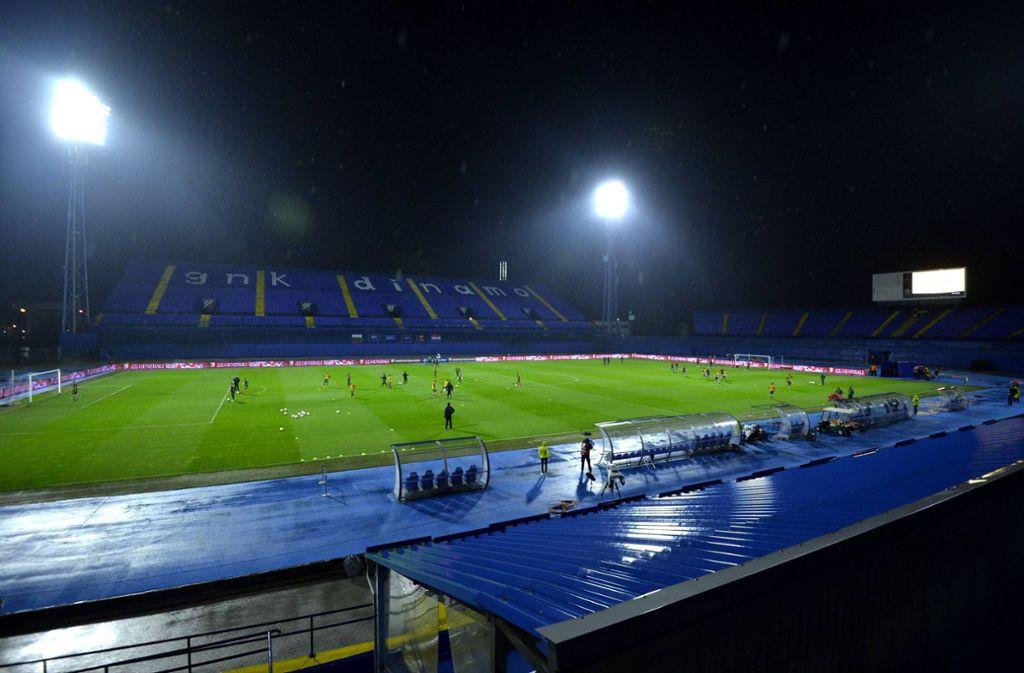 Im Maksimir-Stadion von Dinamo Zagreb wird auch nicht gespielt. Foto: imago/Pixsell/imago sportfotodienst