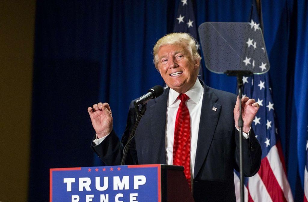 Nicht aus Dummheit, sondern aus Kalkül und Prinzip stellt Donald Trump eine haltlose Forderung nach der anderen auf. Foto: GETTY IMAGES NORTH AMERICA