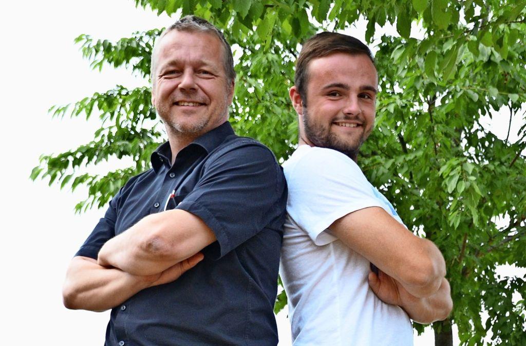 Vater und Sohn Tilo und Lukas Kiess haben Stammzellen gespendet. Foto: Sandra Hintermayr