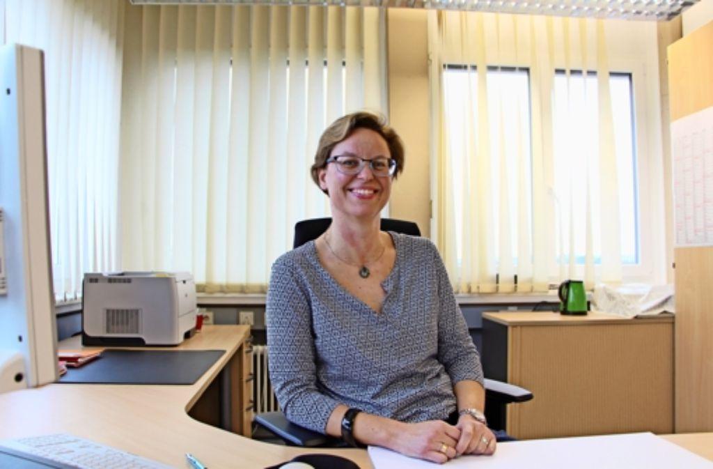 Noch  ist das Büro von Mikaela Wessels recht karg. Foto: Eveline Blohmer