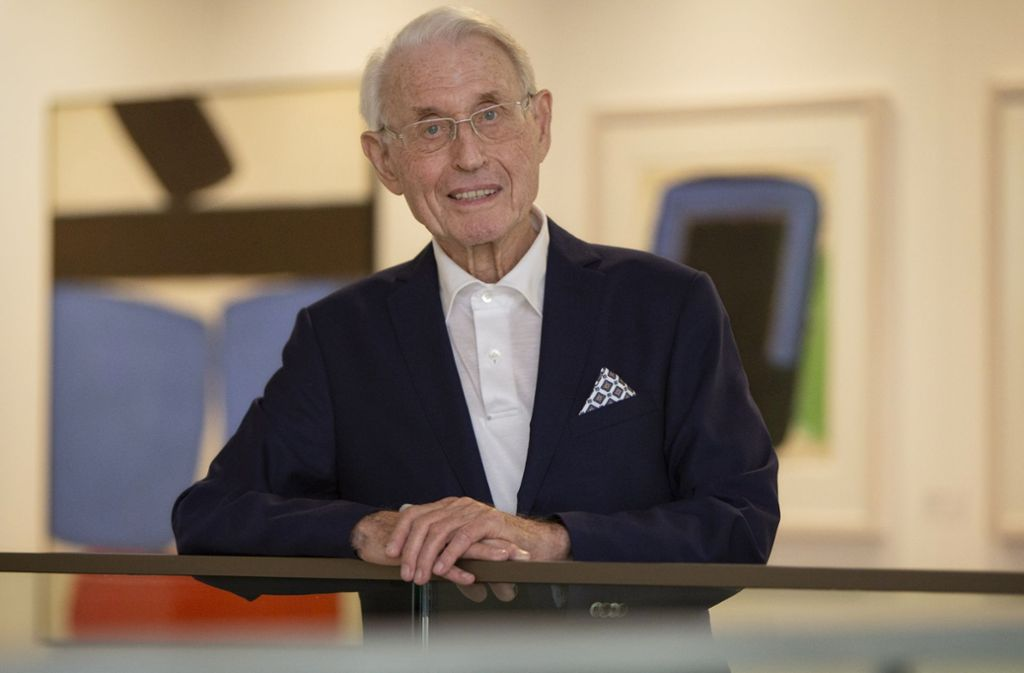 Karl Otto Völter ist  von der Stadt mit dem Esslinger Kulturpreis ausgezeichnet worden. Foto: Michael Steinert