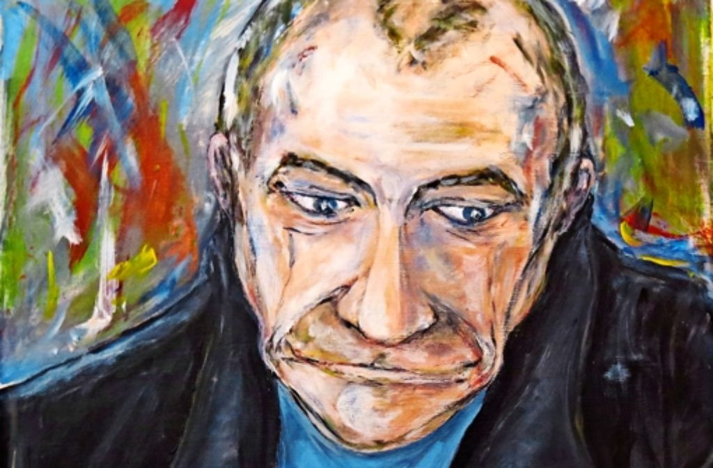 So sah der Altstadtmaler Tasso Athanasiadis sich selbst. Foto: red