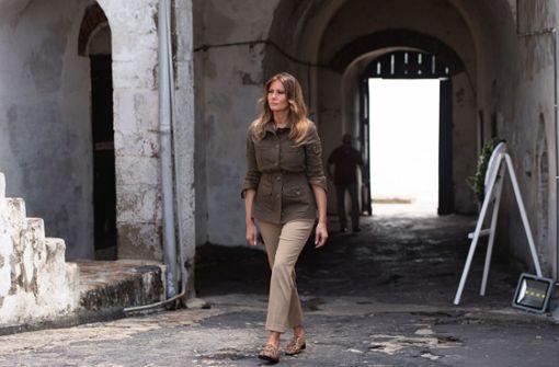 Melania Trump besucht frühere Sklavenhandelstätte