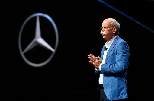"""""""Die Autoindustrie hat beim Diesel Fehler gemacht"""", räumte Daimler-Chef Dieter Zetsche in Genf ein. Foto: AFP"""