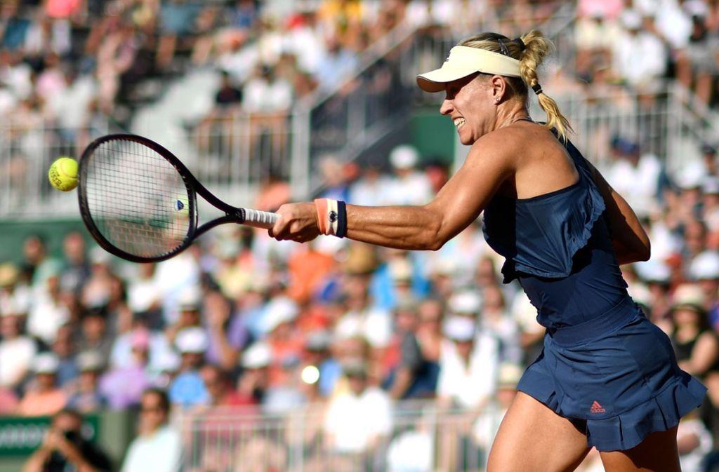 Angelique Kerber steht im Achtelfinale der French Open. Foto: AFP