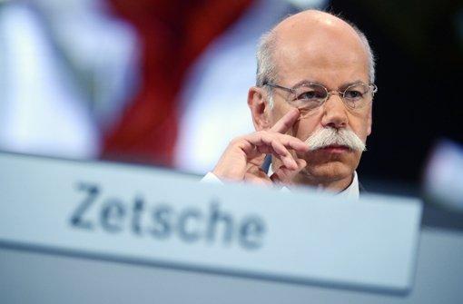 Zetsches Vertrag wurde nur um drei Jahre verlängert. Foto: dpa