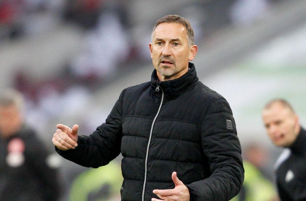 Für Achim Beierlorzer ist beim 1. FC Köln  Schluss. Foto: dpa/Roland Weihrauch