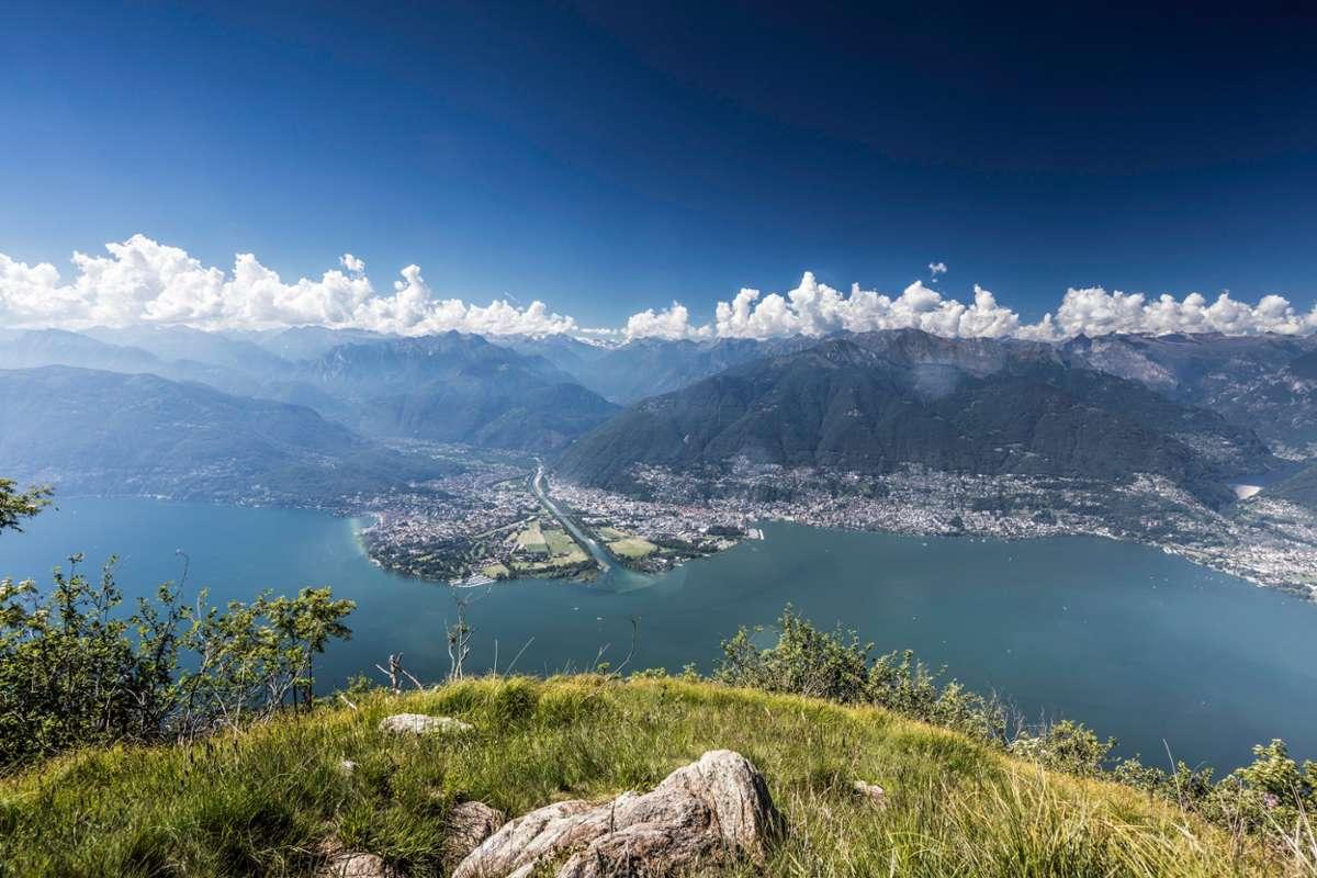 Wunderbare Aussicht: Der Monte Gambarogn am, Lago Maggiore. Foto: Ascona Locarno Tourism/ Alessio Pizzicannella