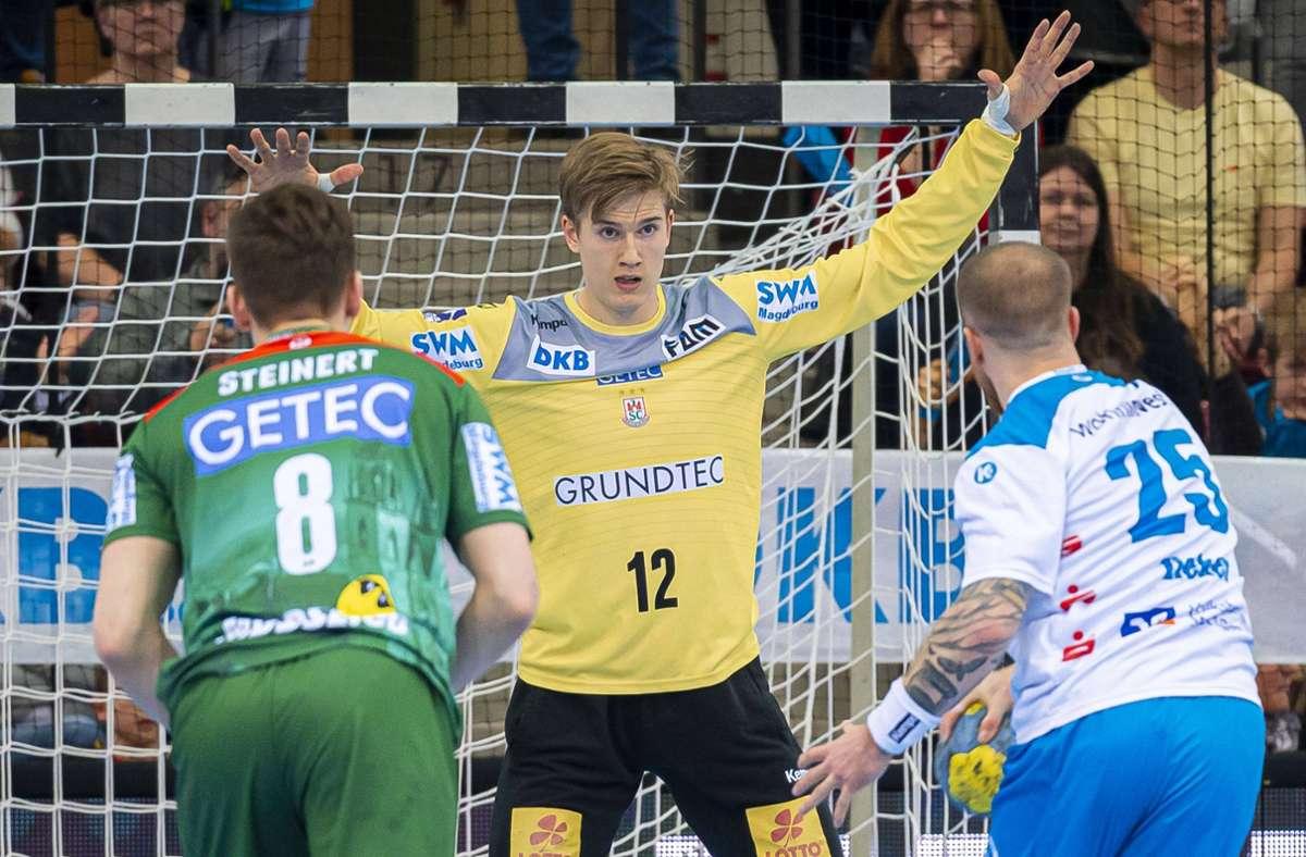 Tobias Thulin brachte im Dress des SC Magdeburg gegen den TVB Stuttgart schon sehr gute Leistungen – jetzt wechselt der Schwede die Fronten. Foto: imago//Marco Wolf