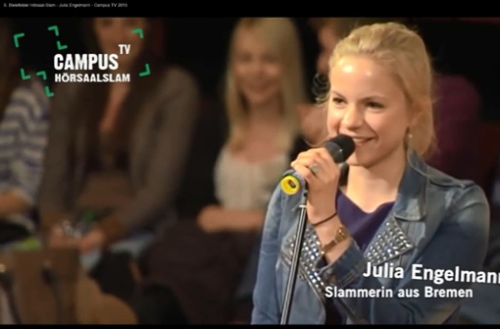 Julia Engelmann ist Poetry-Slammerin. Foto: Campus TV/Universität Bielefeld