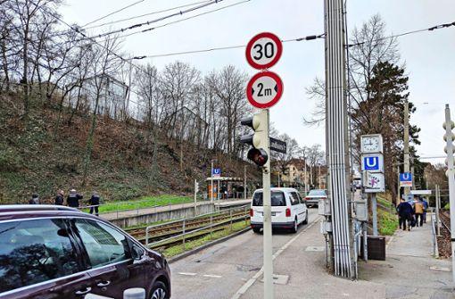 Verkehr in Gaisburg: Durchfahrt zu oder auf