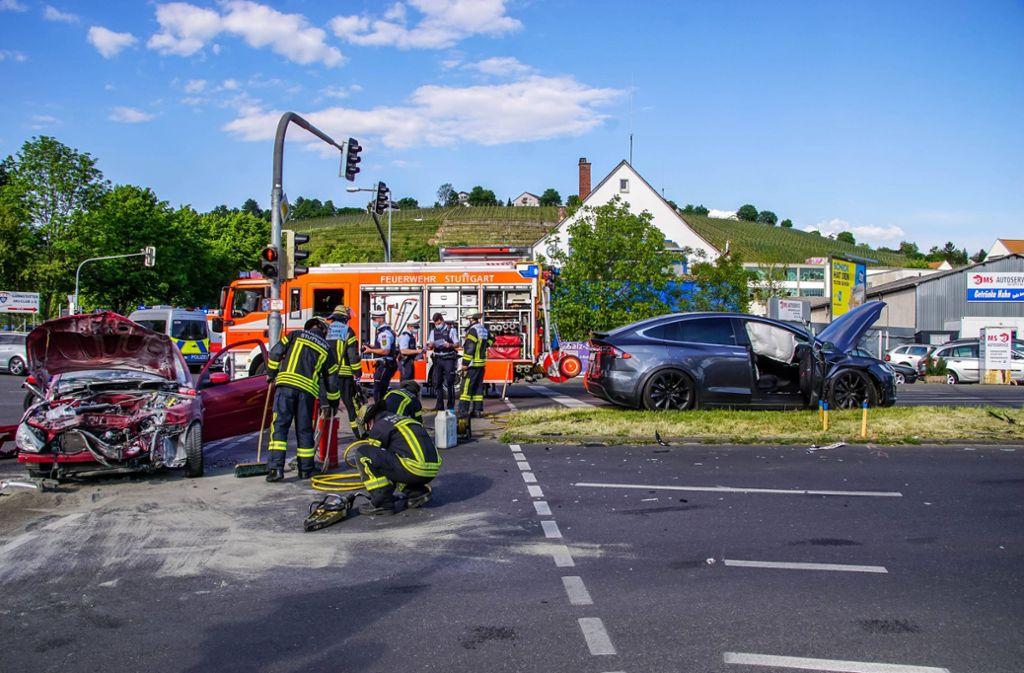 Der Unfall ereignete sich in Bad Cannstatt. Foto: 7aktuell.de/Andreas Werner