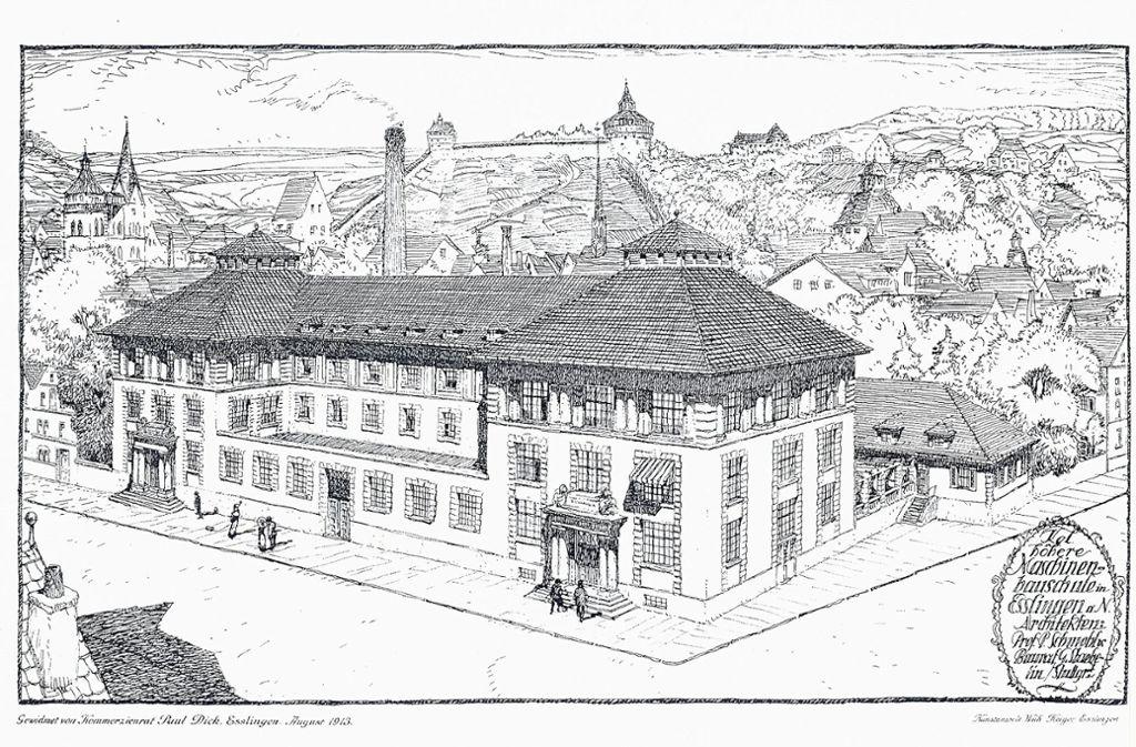 Dass die damalige Maschinenbauschule von Stuttgart nach Esslingen verlegt wurde, ist maßgeblich dem Fabrikanten Paul F. Dick zu verdanken. Foto: Hochschule Esslingen