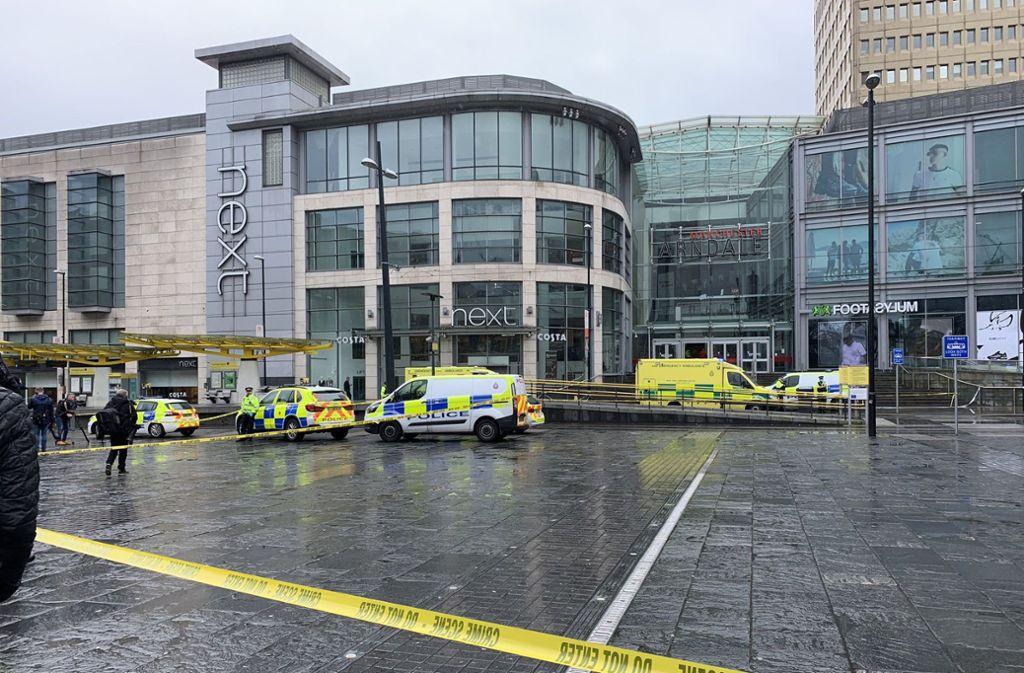 Bei einem Angriff in Manchester sind mehrere Menschen verletzt worden. Foto: dpa/@xkimdunnell
