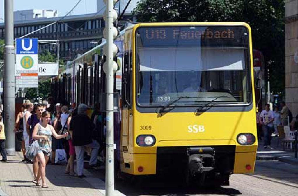 Die Stadtbahnen folgen ab Dezember 2010 einem neuen Netzplan. Foto: Zweygarth