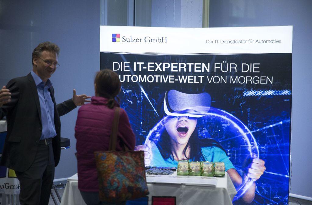 Viele Infos für die Besucher gab es bei der Karrieremesse. Foto: Lichtgut
