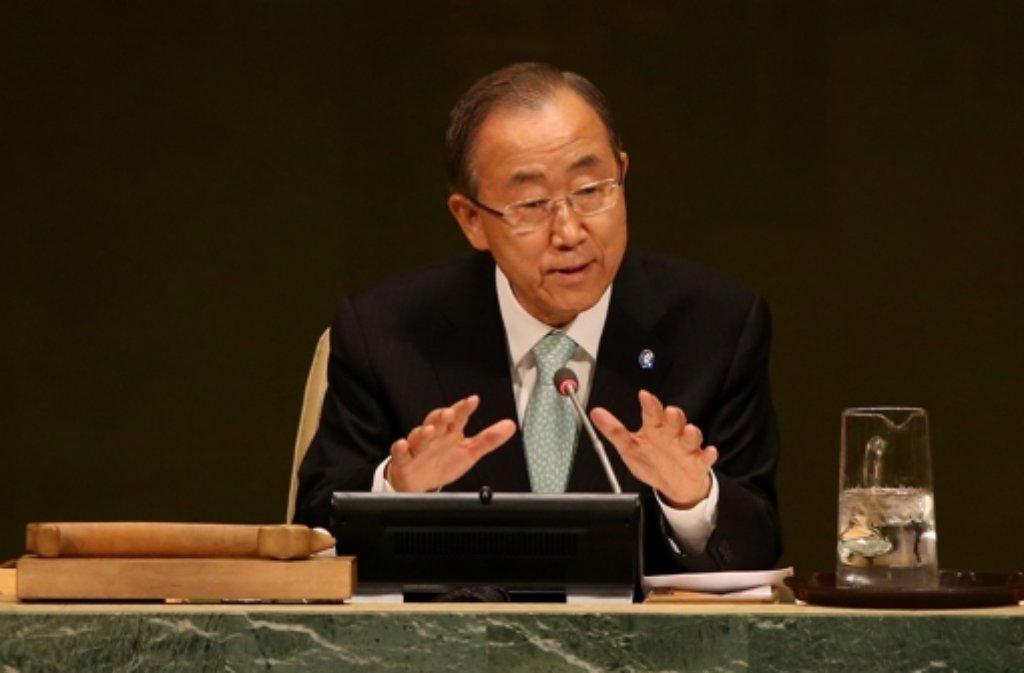 Ban Ki Moon besucht derzeit den Gazastreifen. Foto: dpa