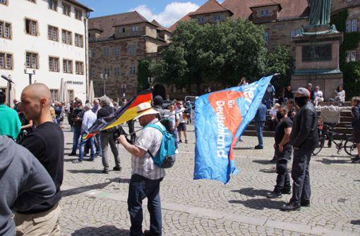 AfD demonstriert gegen Corona-Beschränkungen
