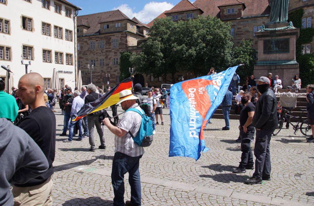 AfD-Kundgebung auf dem Stuttgarter Schillerplatz Foto: 7aktuell.de/Andreas Werner