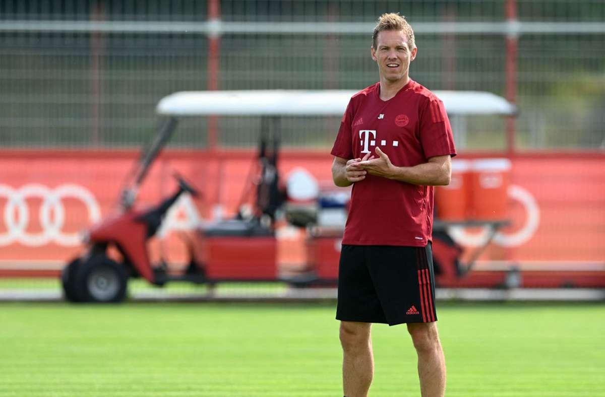 Sein Champions-League-Debüt für die Bayern steht an: Julian Nagelsmann. Foto: AFP/CHRISTOF STACHE