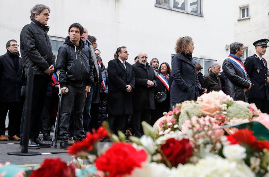 Am Dienstag fanden  mehrere Gedenkveranstaltungen für die Toten des Anschlags statt. Foto: AFP/FRANCOIS GUILLOT