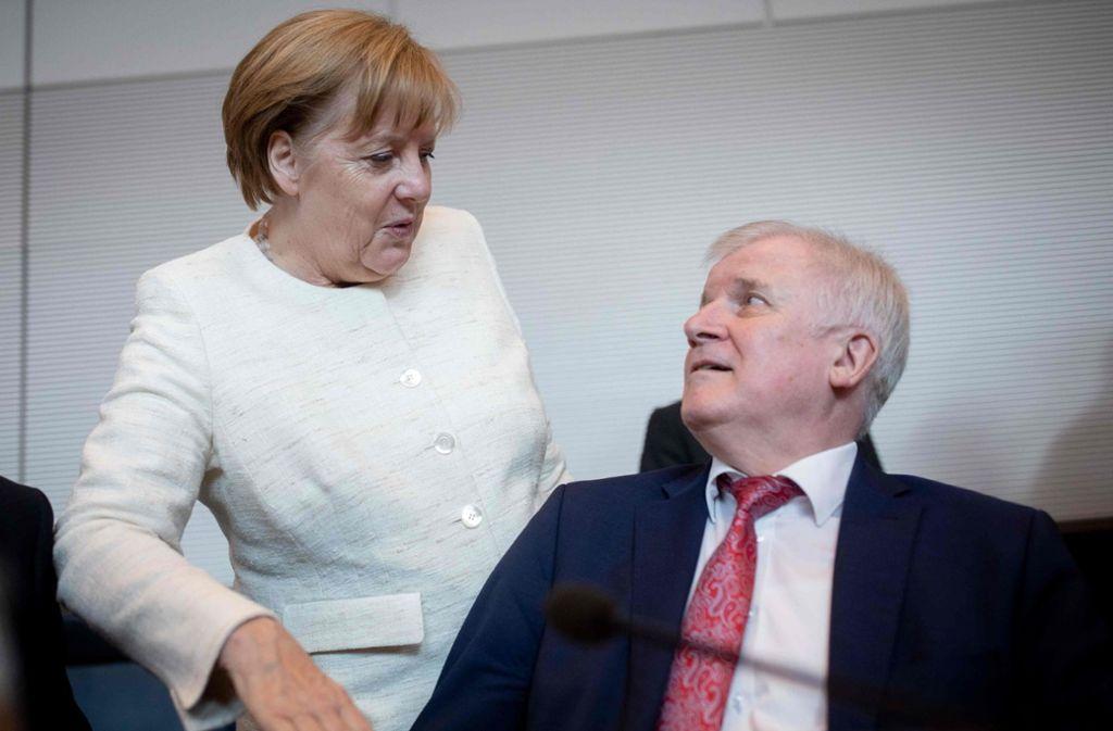 Kanzlerin Angela Merkel und Horst Seehofer haben Meinungsverschiedenheiten. Foto: dpa