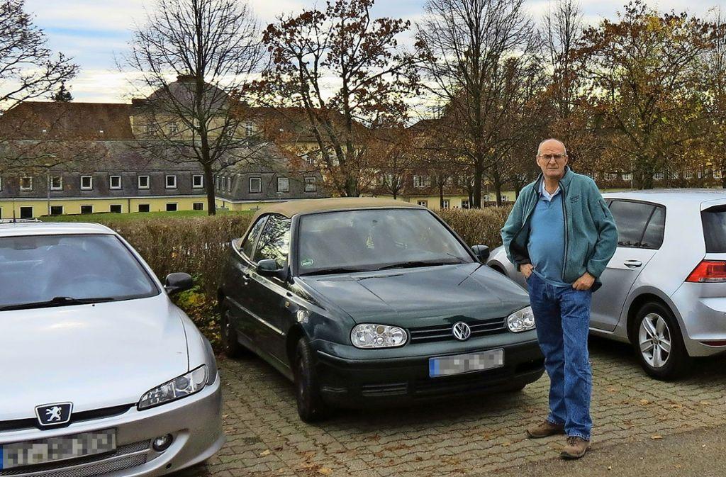 Werner Vorderwühlbecke hat vor zehn Jahren ein Haus nahe der Uni  gekauft. Der Verkehr nimmt zu, sagt er. Foto: Julia Bosch