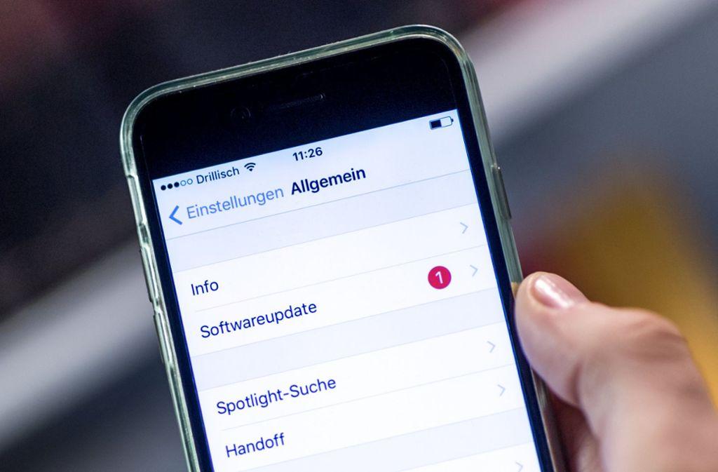 Apple will das Update für iOS zeitnah bereitstellen. Foto: dpa-tmn