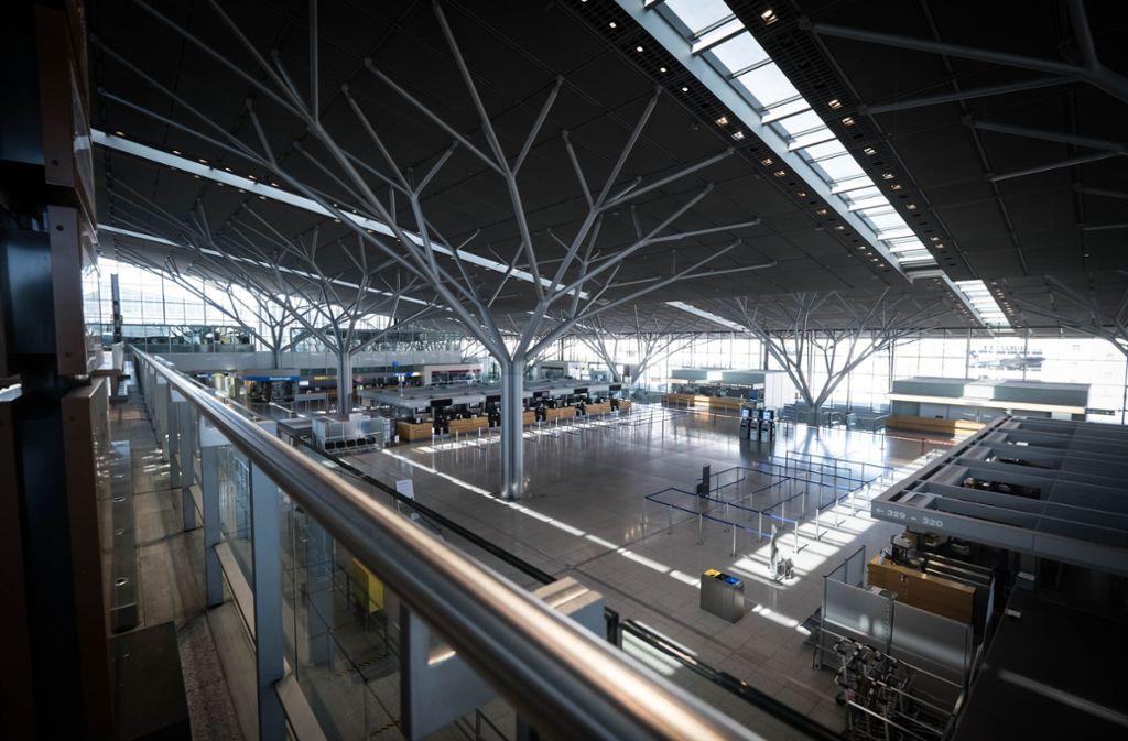 Nichts geht mehr auf dem Stuttgarter Flughafen Foto: Lichtgut/Achim Zweygarth