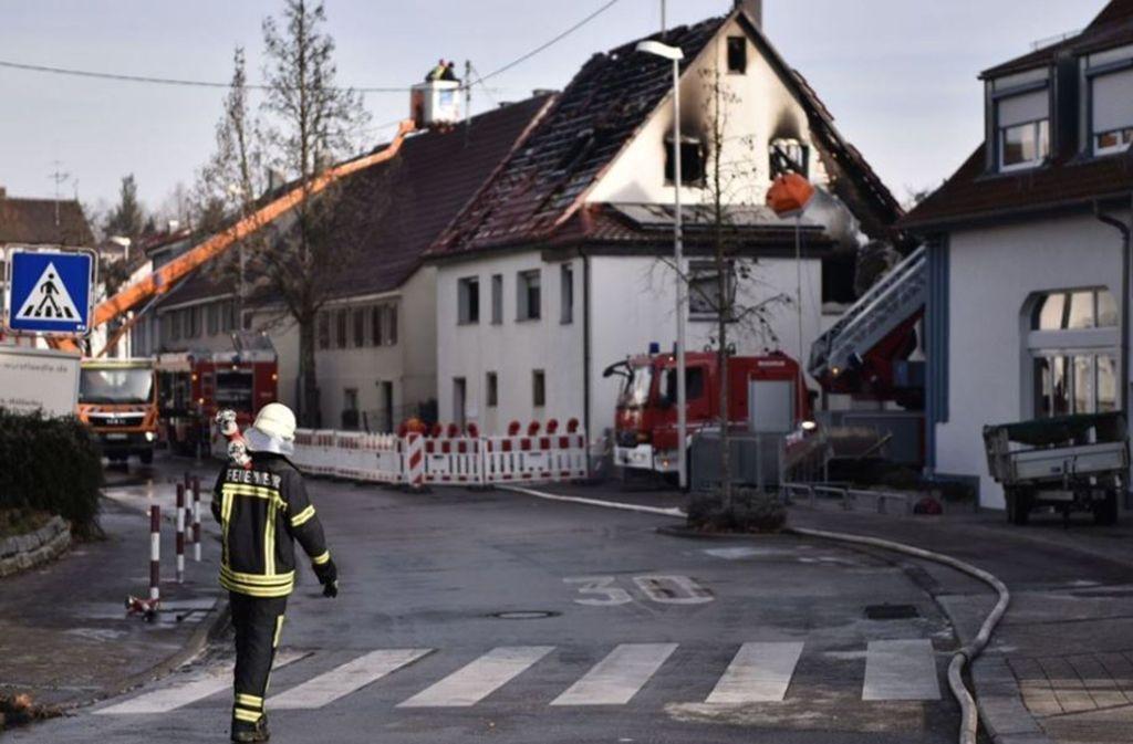 Der Brand war am späten Dienstagabend ausgebrochen und hatte einen Schaden zwischen 600 000 und 700 000 Euro angerichtet. Foto: StZN/Weingand