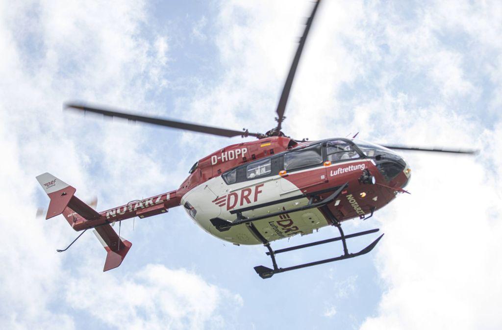 Ein Rettungshubschrauber war im Einsatz, doch für das Opfer kam jede Hilfe zu spät (Symbolbild). Foto: 7aktuell.de/Simon Adomat