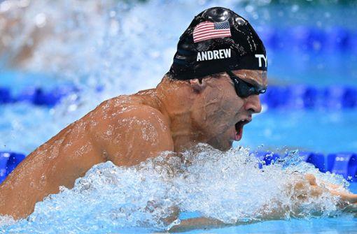 Ohne Maske zum Interview:US-Schwimmerpolarisiert weiter
