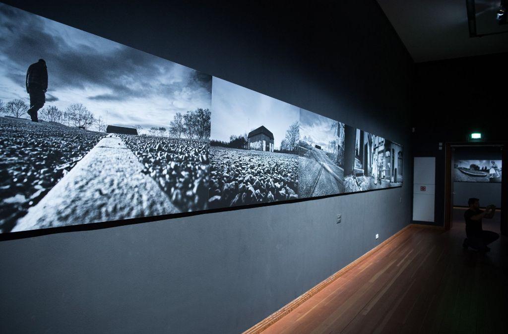 """Die Ausstellung """"Blutiger Boden"""" in Berlin. Foto: dpa"""
