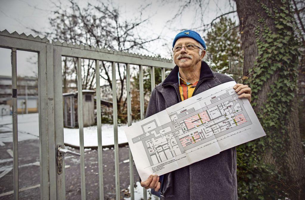 Klaus-Peter Graßnick hat konkrete Pläne für den Diakonissenbunker. Der wurde in den Achtzigerjahern ertüchtigt und ist in recht gutem Zustand. Die folgende Bildergalerie zeigt, wie es unten aussieht. Foto: Lichtgut/Piechowski, Plavec