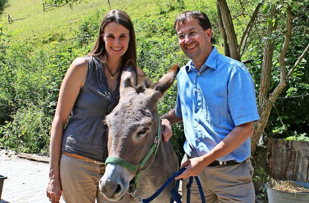 Natalie Barthels und Meinrad Bauer sind die Betreiber der Eselsmühle. Foto: Tetik
