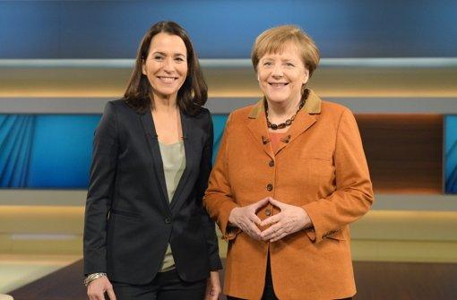 Angela Merkel (rechts) hat bei Anne Will ihre Politik offensiv verteidigt. Foto: dpa