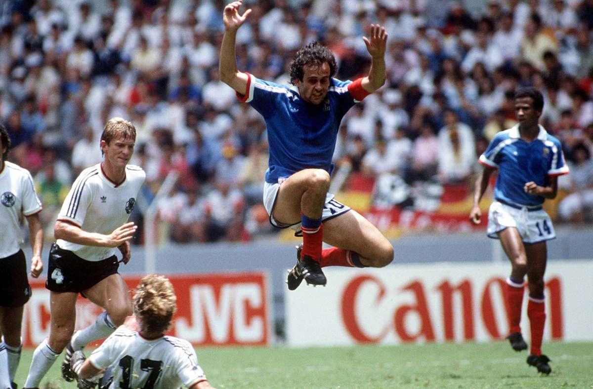 Michel Platini war der Star der französischen Mannschaft bei der EM 1984 – so viele Tore wie er erzielte bisher niemand bei einer Europameisterschaft. Foto: aumann