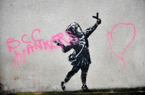 Unbekannte zerstören das neue Werk von Banksy