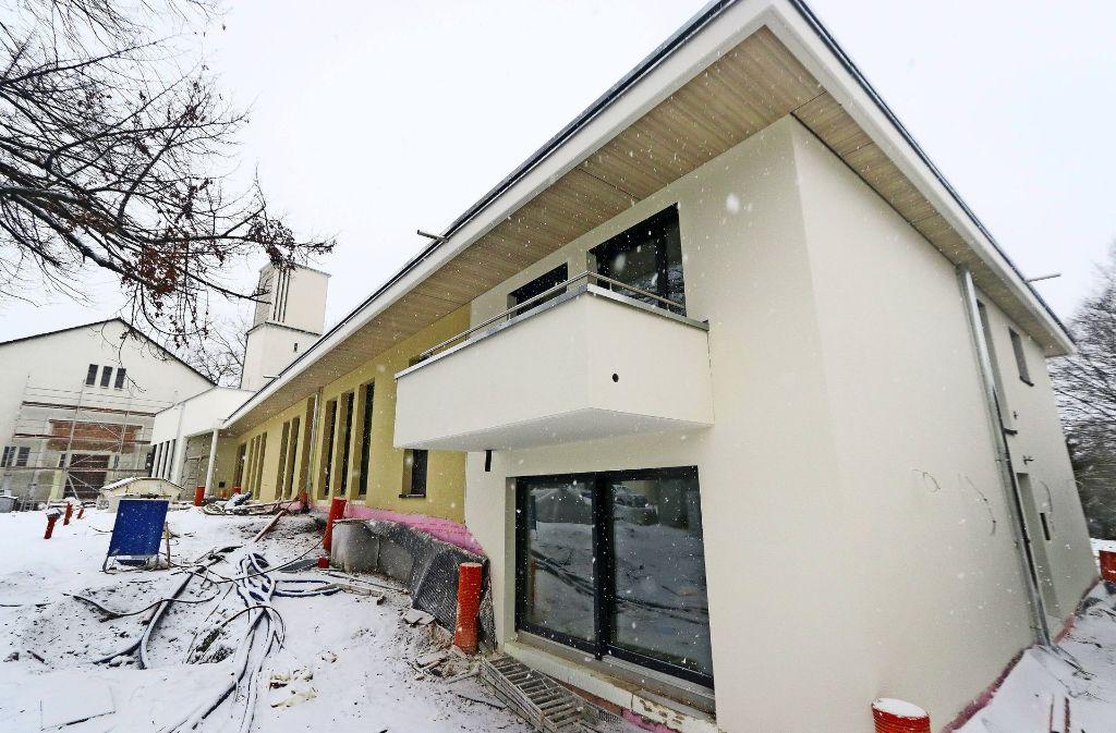 Noch ist das Gemeindezentrum in der Lembergstraße eine Baustelle. Foto: factum/Granville