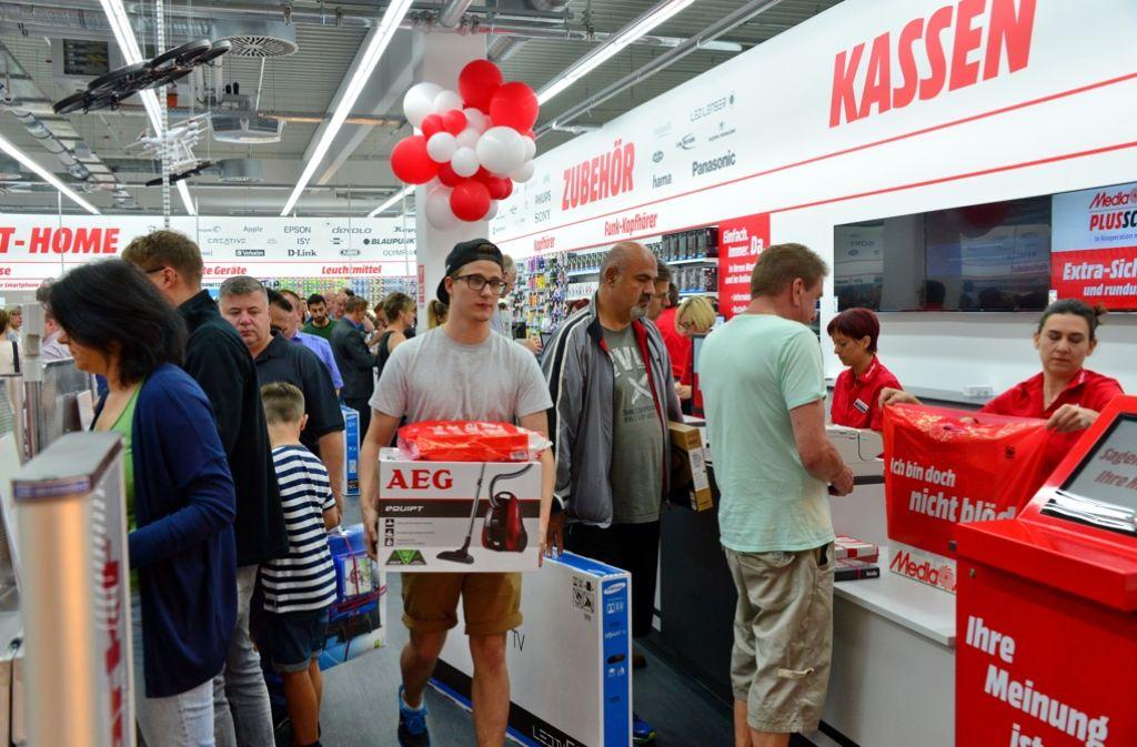 So soll es nach dem Willen der Verantwortlichen am Freitag aussehen. Das Bild entstand bei einer Markteröffnung in Leinfelden-Echterdingen. Foto: Norbert J. Leven