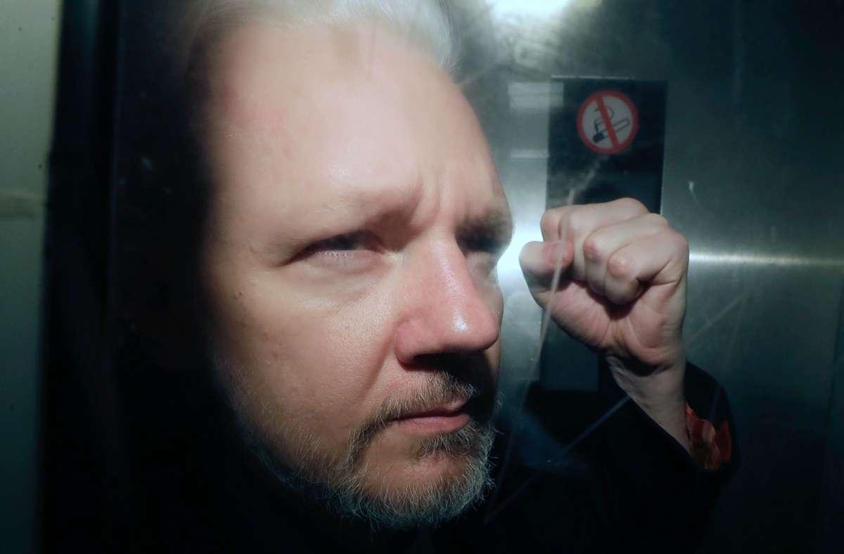 Wikileaks-Gründers Julian Assange ist in Haft, wird in Stuttgart aber ausgezeichnet. (Archivbild) Foto: dpa/Matt Dunham