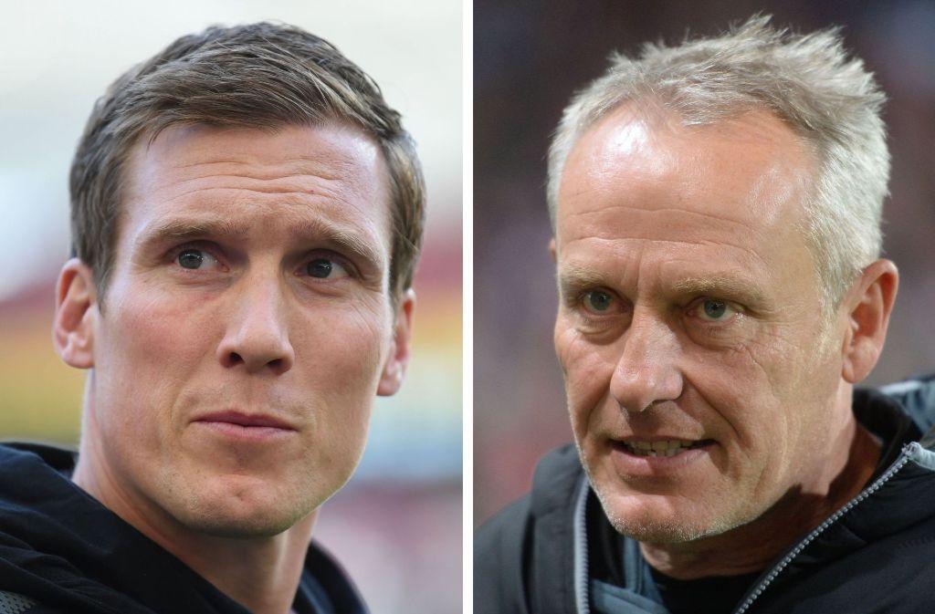 VfB-Coach Hannes Wolf will gegen Christian Streichs Freiburger punkten. Foto: dpa