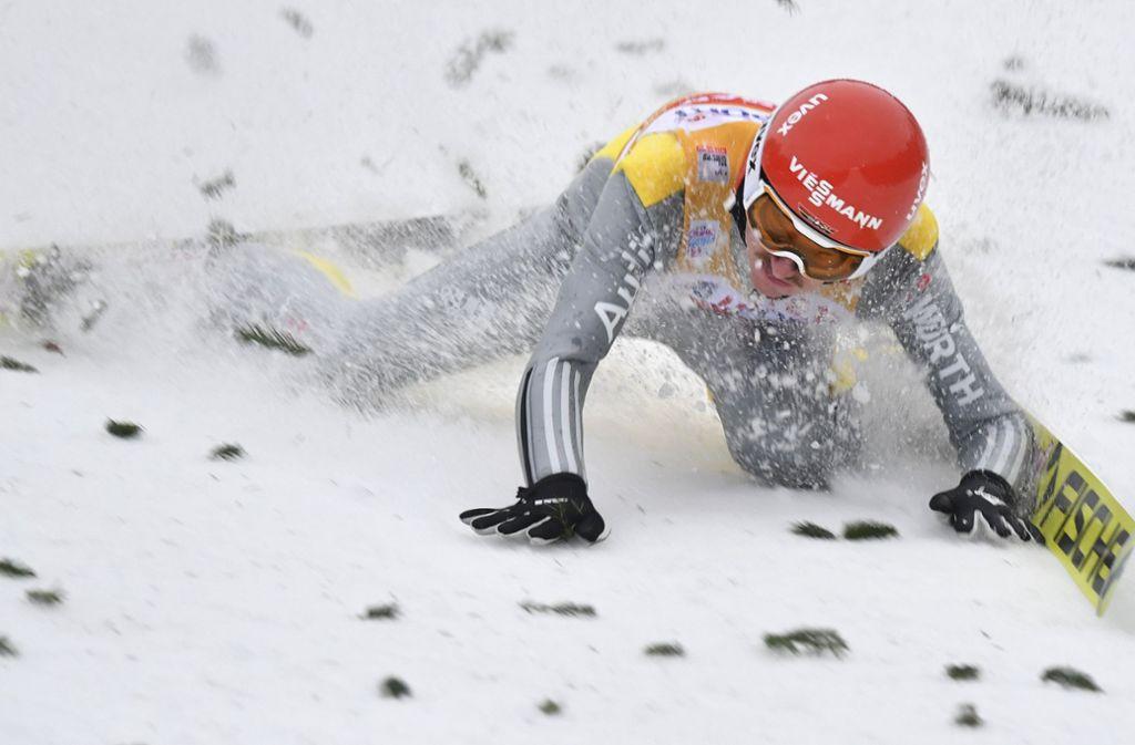 Richard Freitag stürzte am Donnerstag in Innsbruck. Foto: AP
