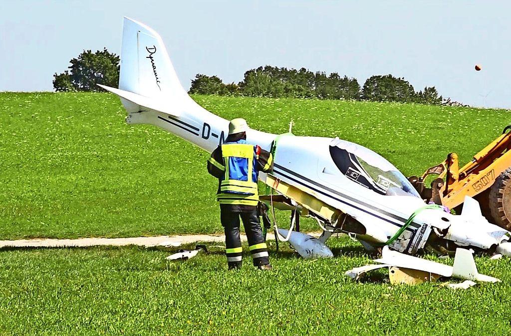 Am Dienstag ist in Großerlach ein Ultraleichtflieger mit einem Traktor zusammengestoßen. Foto: 7aktuell.de/ 7aktuell
