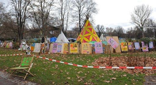 Camp im Schlossgarten darf geräumt werden
