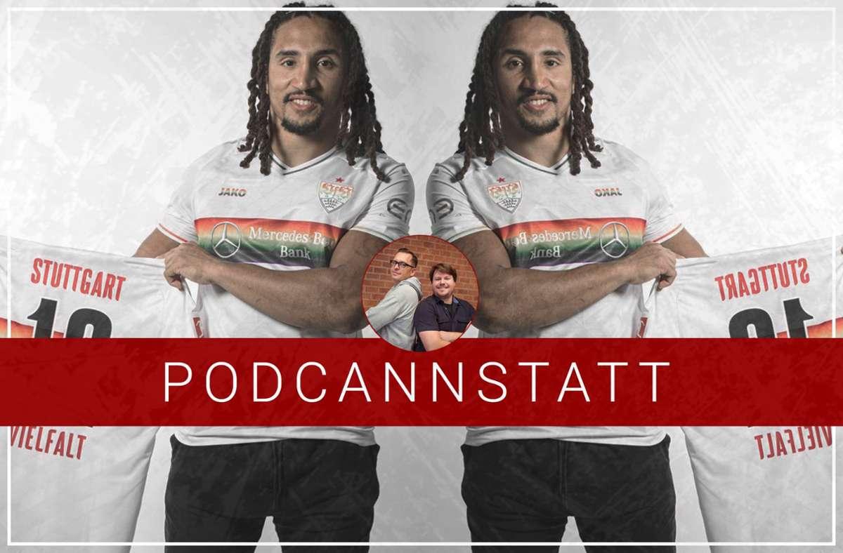 Jakob Johnson von den New England Patriots ist zu Gast im VfB-Podcast. Foto: STZN/VfB Stuttgart