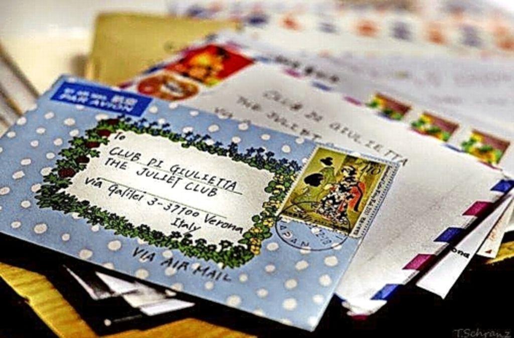 Jeder an Julia adressierte Brief wird  handschriftlich beantwortet. Foto: Club die Giulietta