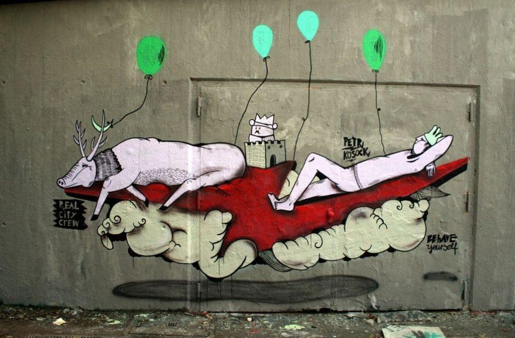 Peter Kosock verschönert mit seiner Kunst die Kesselstadt. Foto: Peter Kosock